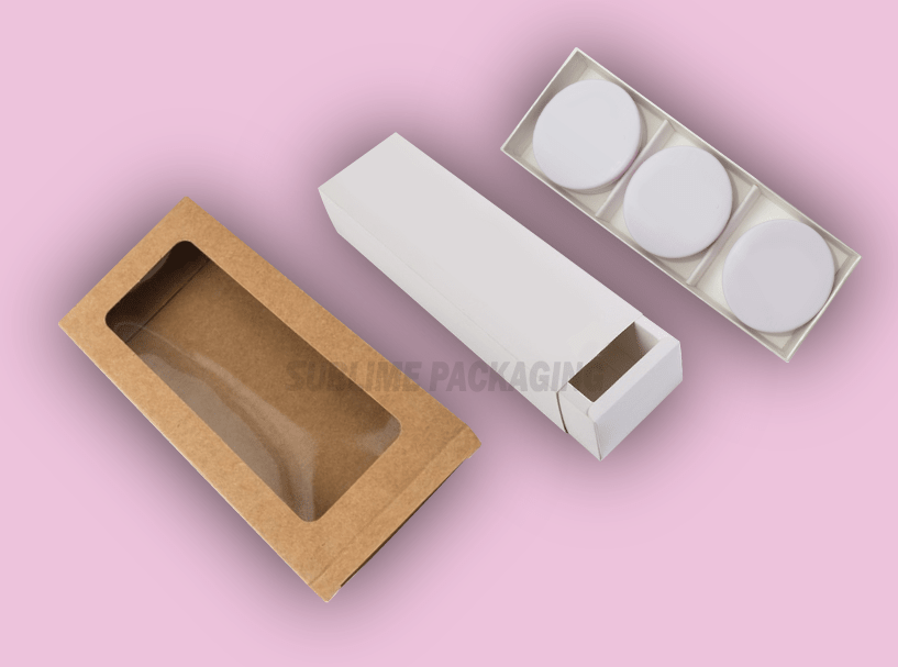 Double Bar Soap Boxes With Window